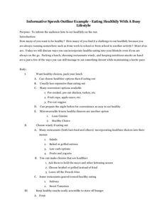 006 demonstrative speech outline template Google Search