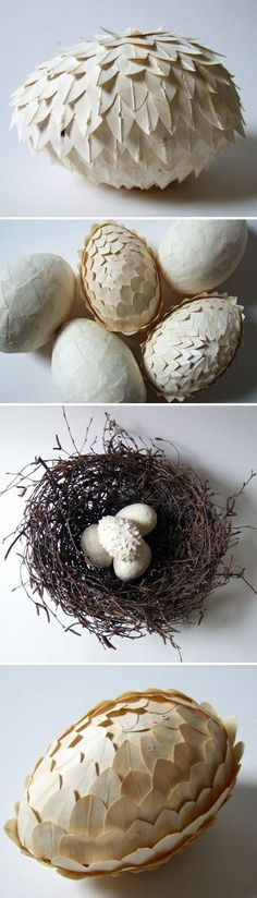 paper eggs // gorgeous for Easter or in any decor scheme  #decor