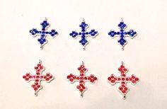 3 cruzes de Rhinestone abalorios cuentas #fornituras por YBatchi #reiki #cruz