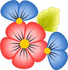 Cartoon Flowers, Flower Clipart, Big Flowers, Clip Art, Outdoor Decor, Floral, Fictional Characters, Printables, 3d