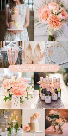 Decoração de Casamento : Paleta de Cores Pêssego e Coral | Blog de Casamento DIY da Maria Fernanda