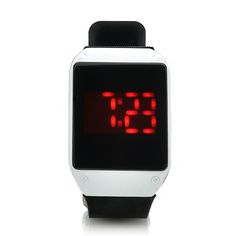 Touch Activated LED Watch (28 Red LEDs, One Key Touch Control)
