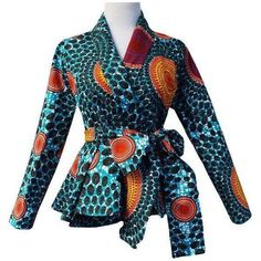 Shop African Print (Ankara) Blouses, Crop Tops, Tops, Danshiki Tops, Peplum African tops from ATMkollectionz. The best online store for beautiful ready to wear African clothing for women and children. We carry all sizes for plus size curvy women. African Inspired Fashion, Latest African Fashion Dresses, African Dresses For Women, African Print Dresses, African Print Fashion, Africa Fashion, African Attire, African Wear, Fashion Prints