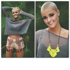stefaniamodel:  Taken back in Melbourne for #kimimagazine ☺ #buzzcut #shorthair #trich #alopecia #awareness