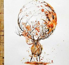 Aquarelle Fantasie Welten , Luqman Reza Mulyono comes from Indonesia and is an expert in watercolor motifs. Art And Illustration, Watercolor Illustration, Animal Illustrations, Watercolor Tattoo, Watercolor Quote, Watercolor Paintings Of Animals, Animal Paintings, Fantasy Kunst, Fantasy Art