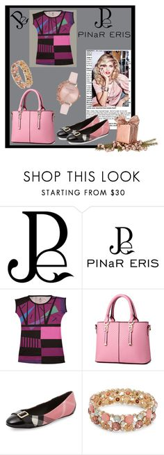 """""""Pinareris"""" by dijana1786 ❤ liked on Polyvore featuring WithChic, Burberry, Design Lab, Olivia Burton and pinareris"""