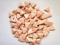 Mosaic Tiles-Pink Pastel-75 1 inch pieces-embossed by mosaicmonkey
