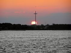 St. Augustine Fl from the Bay.  Went on a sunset sailboat excursion a few years ago...so fun!