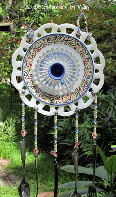 Windchime garden whimsy by Garden Whimsies by Mary