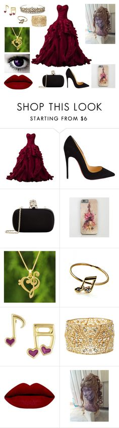 """Harmony - Ballo"" by eliana-zennaro on Polyvore featuring moda, Christian Louboutin, Alexander McQueen, NOVICA, Victoria Townsend, Charlotte Russe, women's clothing, women, female e woman"