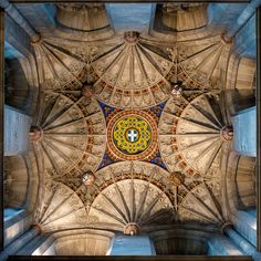 Canterbury Cathedral Ceiling by Evansie, via Flickr. #Architecture #Circle