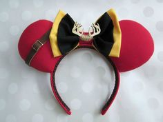 Gaston Inspired Mouse Ears Headband, Custom Ears (Beauty and the Beast)