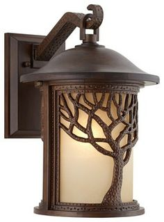 Bronze Mission Style Tree 9 12 High Outdoor Wall Light Light