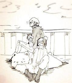 Heart Pirates - Trafalgar D. Water Law, Bepo, and Penguini One Piece