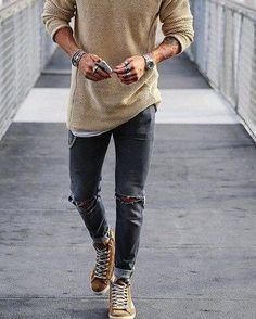 Moda masculina casual fashion sweaters ideas for 2019 Mode Masculine, Mode Man, Moda Blog, Mens Fashion Blog, Men's Fashion, Trendy Mens Fashion, Fashion Ideas, Fashion Clothes, Fashion Trends