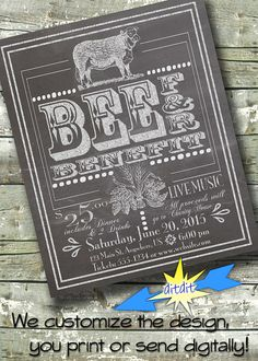 Beef and Beer Benefit Festival Flyer EVENT by DitDitDigital