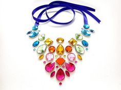 Exotic and Colorful Rainbow Rhinestone by SparkleBeastDesign, $35.99