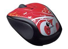 30f56e33c44 Logitech Home Office PC Laptop Notebook Wireless Optical Mouse (Blush  Butterfly)