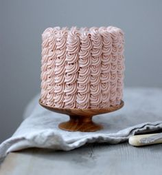 Ruffle cake by Herriott Grace via Dandelion & Grey. #bridalshower #desserttable #reception