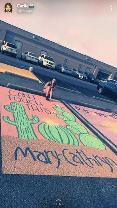 Senior parking spot ❤️❤️🌵 Senior parking spot ❤️❤️🌵 More from my site Gorgeous Graduation Picture ideas for Photography Parking Space, Parking Lot, Senior Year Pictures, Cheer Pictures, Parking Spot Painting, Space Painting, Floor Painting, Cheer Stunts, Cheerleading