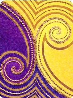 joartflores: Fialová a žlutá spirála design ~ Jill Lena Ford Red Yellow Turquoise, Purple Gold, Green And Purple, Mauve, Jaune Orange, Aesthetic Colors, Creative Colour, Yellow Fashion, Branding