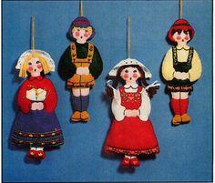 Vintage Felt Children Christmas Ornaments by allsfairyvintage