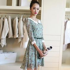 Buy Colorful Shop Floral Chiffon Dress at YesStyle.com! Quality products at remarkable prices. FREE WORLDWIDE SHIPPING on orders over US$35.
