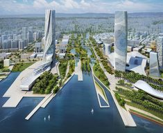 Qianhai Water City, China The recent lecture by James Corner at the University of Greenwich shed light on the role of landscape urbanism and the value that can be added to urban design and city env…