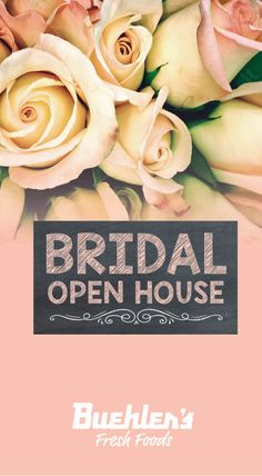 Bridal Open House - Saturday, Feb. 20 from 11 am - 4 pm at Buehler's Wooster Milltown Learn how you could qualify for a FREE wedding cake when you book your catering and floral with us! Speak with our Catering Specialists and Floral Designers. Enjoy food and cake samples. Buehler's Wooster Milltown - 3540 Burbank Rd., Wooster, Ohio 330-345-5908 Wooster Ohio, Free Wedding, Open House, Event Planning, Catering, Wedding Cakes, Floral Design, Designers, Bridal