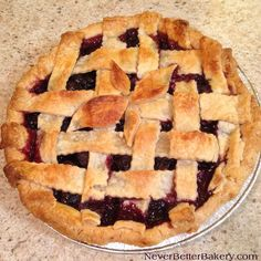 Cherry pie made from scratch. We use real butter in our crusts we make and our cherry filling is also made from scratch, not pre-made or a can.
