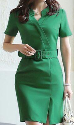 Office Dresses, Casual Dresses, Dresses For Work, Classy Work Outfits, Classy Dress, Dress Outfits, Fashion Outfits, Dress Fashion, Elegant Dresses For Women