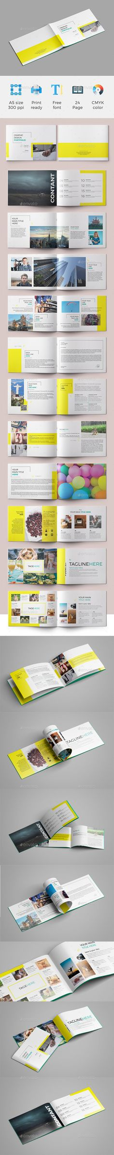 A5 Brochure 02 — InDesign INDD #flexible #booklet • Available here → https://graphicriver.net/item/a5-brochure/20680146?ref=pxcr