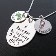"""MIA """"I love you to infinity & beyond"""" mother necklace"""