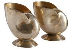 Midcentury Brass Shell Vases, Pr. https://www.onekingslane.com/shop/debra-hall-lifestyle