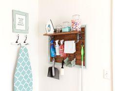 DIY Laundry Room Storage Center