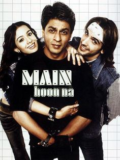 "Main hoon na - ""I'm here"" or ""trust me.""  Shahrukh Khan (the biggest film star in India) dips into his funny side, and his action side, and his nerdy side, and his romantic side in this rib-tickling action spoof. He plays Ram Sharma, a Rambo-type army dude who must go undercover as a college student to protect the daughter of a general from terrorists. Meanwhile, he falls in love, gets in trouble with teachers, and has to do chemistry homework. A fun time with a slam-bang finish."