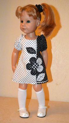 Черно-белое. Наряды для кукол Gotz / Одежда для кукол / Шопик. Продать купить куклу / Бэйбики. Куклы фото. Одежда для кукол Crochet Doll Clothes, Girl Doll Clothes, Doll Clothes Patterns, Clothing Patterns, Girls Smocked Dresses, Little Girl Dresses, Frock Fashion, Gotz Dolls, American Doll Clothes