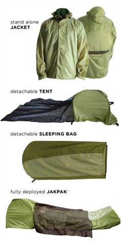 Water proof Jacket, Sleeping Bag & Tent All In One - SHTF Preparedness