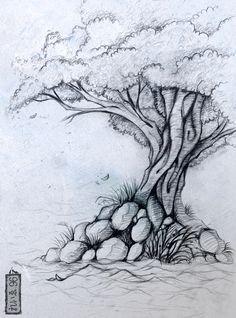 drawings of trees images | sketch tree by yanik 0096 traditional art drawings fantasy 2012 2013 ...