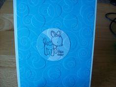 Baby Boy Congratulations  Little Dear  Blue  by janzcardsandgifts