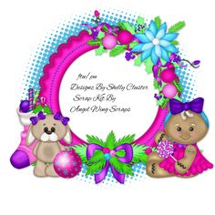 "Designz By Shelly: Angel Wing Scraps CT ""The Littlest Elf"" W/ FTU Cluster"