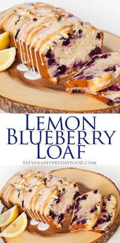 Easy Lemon Blueberry Loaf, perfect with a cup of coffee! Video recipe by Tatyana's Everyday Food