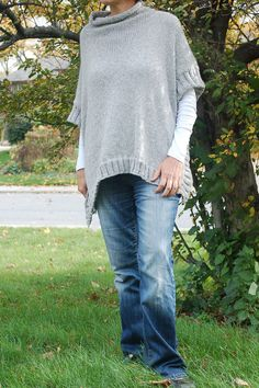 Easy to knit poncho pattern Remy Poncho Simple to by OlioKnits