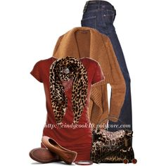 Denim, Red and Leopard! (OUTFIT ONLY), created by cindycook10 on Polyvore