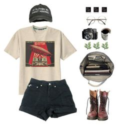 """""""qcs is tomorrow"""" by diviinity ❤ liked on Polyvore featuring Retrò, Dr. Martens and Esperos"""
