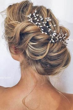 60 Trendiest Updos for Medium Length Hair Messy Twisted Updo For Medium Hair hochzeitsfrisuren Updos For Medium Length Hair, Wedding Hairstyles For Medium Hair, Messy Hairstyles, Pretty Hairstyles, Medium Hair Styles, Hairstyle Ideas, Hair Medium, Bridal Hairstyles, Twisted Hair