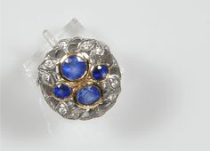 carats of Burmese sapphires surrounded by diamonds set in yellow gold. Burmese, 2 Carat, Sapphire, Fine Jewelry, Diamonds, Jewelry Design, Yellow, Rings, Gold