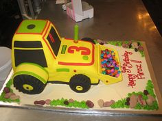 front-end loader birthday cake