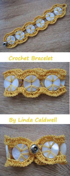 Crochet Bracelet Button