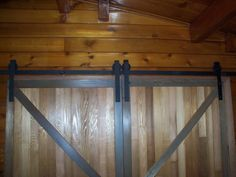 Double Sliding Barn Door Hardware Kit with by InnovativeMetalcraft